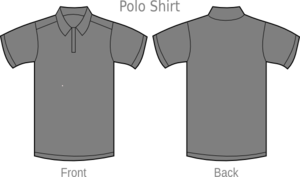 Polo Shirt Grey2 Clip Art