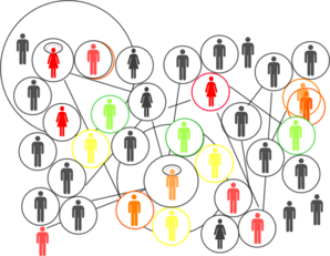 Social Network In Colours Clip Art