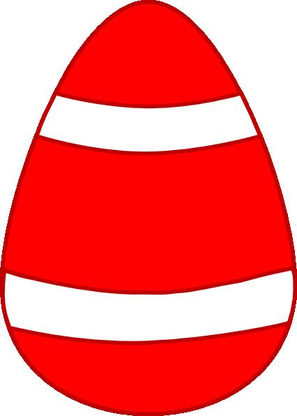 Red Egg, White Curved Stripes, Dark Red Border Clip Art at Clker ...