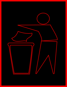 Red, Black, Trash  Clip Art