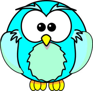 Turquoise Owl Clip Art