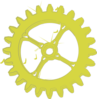 Acid Green Gear Clip Art