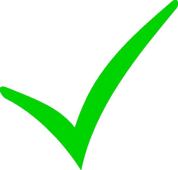 Green Checkmark Clip Art at Clker.com  vector clip art online