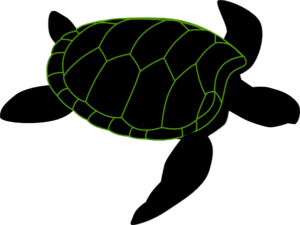Large Turtle Stencil Clip Art at Clkercom  vector clip art
