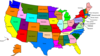 Us Map With States Clip Art