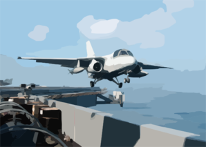 S-3b Viking Launches From Uss Lincoln Clip Art