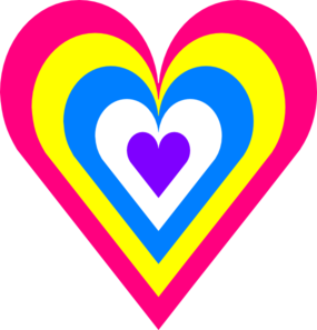 Heart In Colors Clip Art