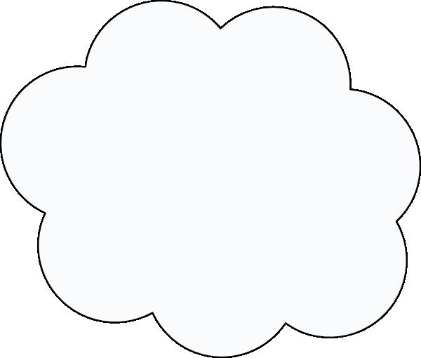 Plain Cloud Clip Art at Clker.com - vector clip art online ...