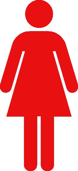 Women Toilet Symbol Red Clip Art At Clker Com Vector Clip Art Online Royalty Free Amp Public Domain