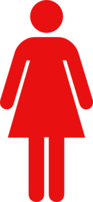 Women Toilet Symbol Red Clip Art