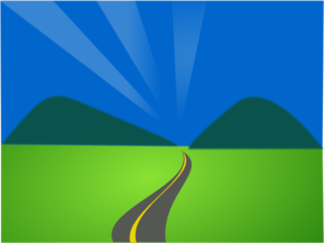 Sun Mountains Road Clip Art