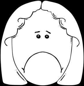 Sad Woman Clip Art at Clker.com - vector clip art online, royalty ...