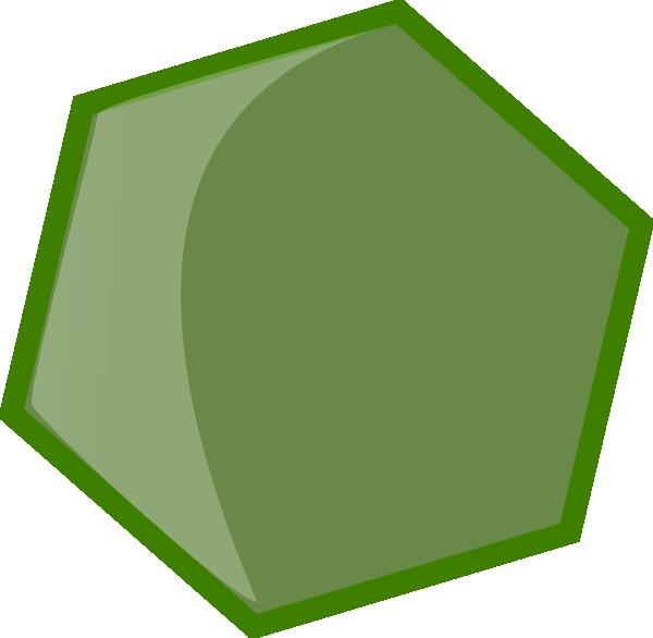 hexagon green clip art at clkercom vector clip art