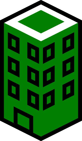 office building green clip art at clker com vector clip art online rh clker com office building clipart office building clipart