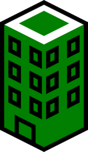 Office Building Green Clip Art