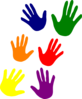 Hands - Various Colors Ladder Clip Art