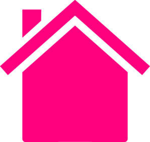 Pink House Outline Clip Art