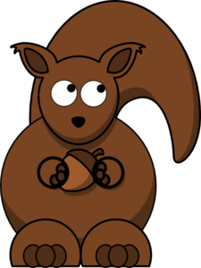 Squirrel Looking Right-up Clip Art