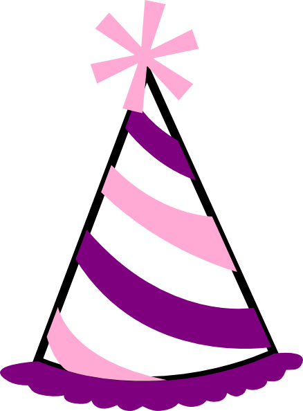 pink and purple party hat clip art at clker com vector clip art rh clker com birthday hat clipart images birthday hat clipart