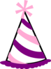 Pink And Purple Party Hat Clip Art