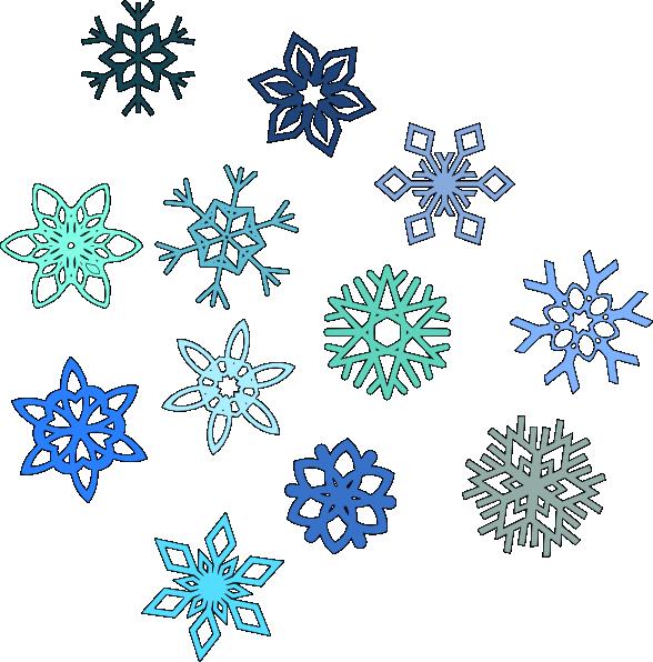 Blue Snowflakes Clip Art at Clker.com - vector clip art ...