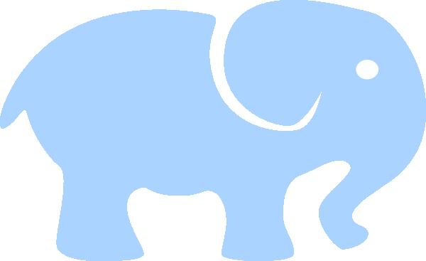 Blue Baby Elephant - White Eye Clip Art at Clker.com ...
