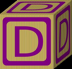 alphabet block d clip art