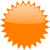 Orange Star Price Tag Clip Art