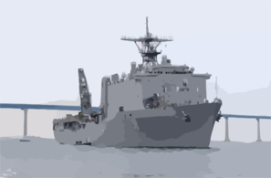 Uss Germantown (lsd 42)  Makes Wake In San Diego Clip Art