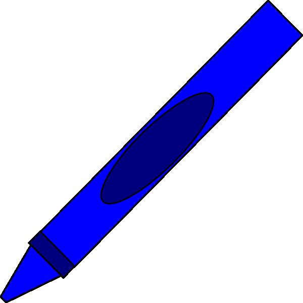 Totetude Blue Crayon Clip Art At Clker