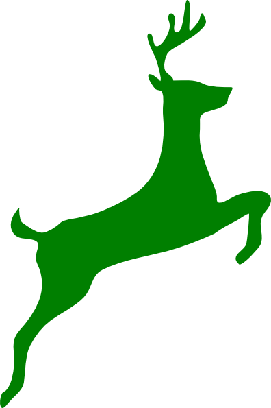 Leaping Stag Clip Art at Clker.com - vector clip art online, royalty ...