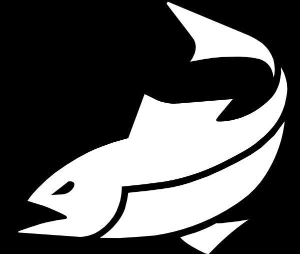 Black fish logo 2 clip art at clker com vector clip art online