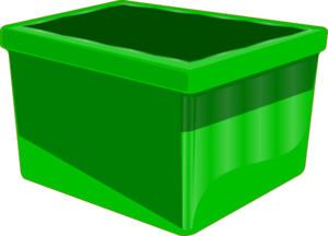 Empty Green Bin Clip Art