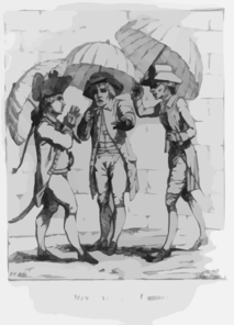 A Meeting Of Umbrellas  / P.v., Delin. ; J. Kent, Fecit. Clip Art