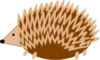 Hedgehog Revised Clip Art