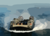 Landing Craft Air Cushion (lcac) Craft On Approach To The Amphibious Assault Ship Uss Kearsarge (lhd 3) Clip Art