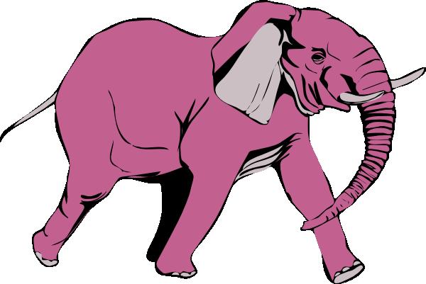 clip art pink elephant - photo #36
