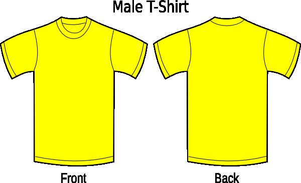 Desenho De Camisa: Camiseta Amarela Clip Art At Clker.com