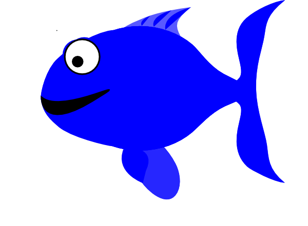 Blue Happy Fish Clip Art at Clker.com - vector clip art online ...