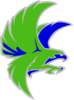 Green Falcon 2 Clip Art
