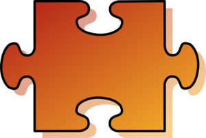 Jigsaw Orange Puzzle Piece Clip Art