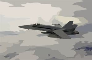 An F/a-18c Hornet Patrols The Skies Clip Art