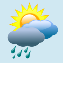 Weather Forecast Partly Sunny With Rain Clip Art