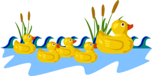 Duck Bath Clip Art