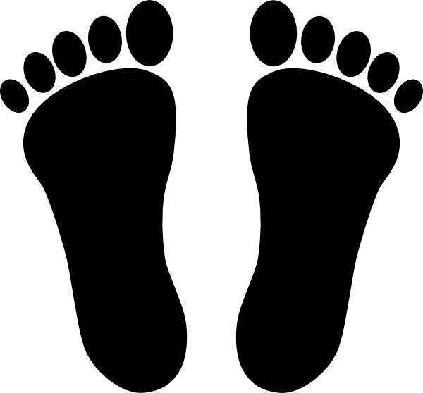 two footprints black clip art at clker com vector clip art online rh clker com