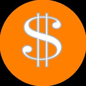 Dollar sign orange. Clip art at clker