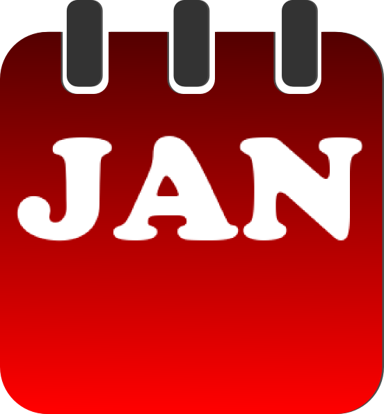 January Calendar Clipart : January calendar clip art at clker vector