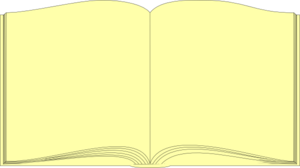 Yellow Book Outline Clip Art