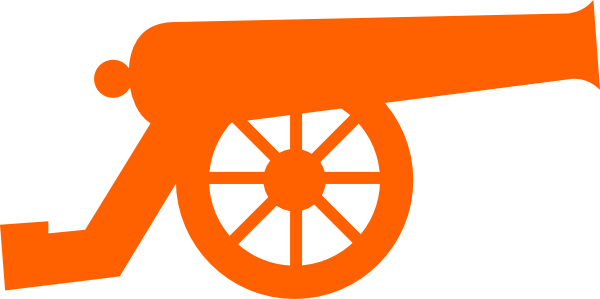 tangerine cannon clip art at clker com vector clip art online rh clker com clipart cannonball cannon clipart png