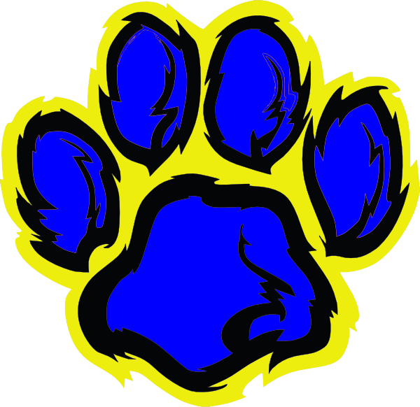 Blue vector - Paw  Gold Clip Art Clker.com And at Tiger